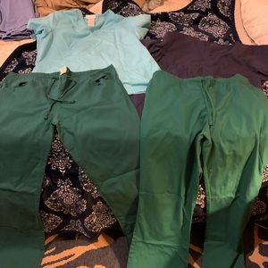 Assorted scrub pants medium